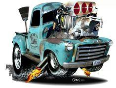 pictures of rat rod trucks Rat Rod Trucks, Rat Rods, Old Pickup Trucks, Chevy Trucks, Truck Drivers, Dually Trucks, Weird Cars, Cool Cars, Caricature