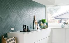 Thank you to for bringing an article on tiles last week with good information on concrete tiles in general. And with pictures from the cool kitchen of with STIX concrete tiles on the wall in the color Russian Blue Black. Kitchen Hoods, Kitchen Tiles, Kitchen Decor, Kitchen Dining, Bathroom Inspiration, Interior Inspiration, Terrazzo, Industrial Kitchen Design, Concrete Tiles