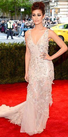 Emmy Rossum 2013 Met Gala #celebrities #celebrityfashion #redcarpet