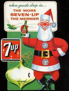 7up Santa Claus Ad, 1965