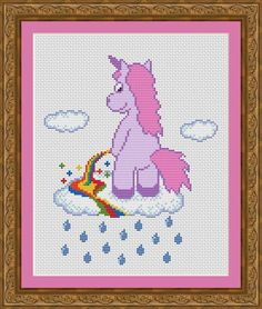 Funny Cross Stitch PDF Pattern Unicorn Pee by CrazzzyStitch