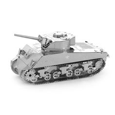 2017 3D Metal Puzzle Model Military Sherman Tank Jigsaws Puzzle Christmas Best Gift For Kids/ Adult