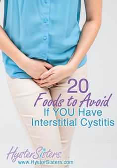 What should foods should I avoid to help manage my IC symptoms? One of first things you can do to manage your interstitial cystitis (IC) (www. Interstitial Cystitis Symptoms, Chronic Cystitis, Painful Bladder Syndrome, Irritable Bowel Syndrome, Bladder Spasms, Ic Recipes, Ic Diet, Pelvic Floor Exercises, Health Tips