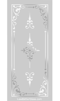 Traditional Sandblasted Glass Patterns Page 3 want this 10 inches by 80 inches Window Glass Design, Frosted Glass Design, Frosted Glass Window, Etched Glass Door, Glass Etching Designs, Glass Painting Designs, Pooja Room Door Design, Wall Design, Sandblasted Glass