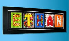 If It's Hip, It's Here: Custom Candy and Lego Letters Make For Some Sweet Wall Decor.