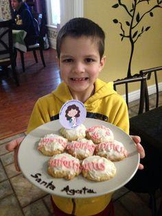 Familia Católica: Galletas para celebrar a Santa Ágata o Águeda - 5 de febrero 2014