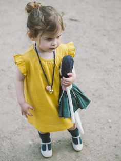 Little yellow dress. #designer #kids #fashion