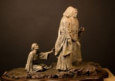 Someone Hath Touched Me   Bronze Sculptures of Jesus Christ   Christian Scluptures   AJ Sculptures