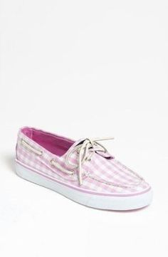 Need these. Pink Gingham Sperry Top-Sider Boat Shoes by lois