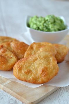 Beer Battered Potato Scallops & Minted Mushy Peas