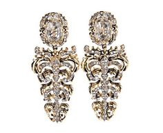 Roberto Cavalli Crystal Drop Earrrings