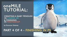 Create a Penguin in Cinema 4D & PS. P4/4 - Matte Painting in PS: JUST NOTICED THE TRANSPARENCY DROP HALF WAY THROUGH - NEW UPLOAD COMING    In this 4 part tutorial I take you through the key steps I take in order to create my animal images.  This series covers in depth Modeling in Cinema 4D, UVW Unwrapping in Bodypaint, 3D Texture workflows and finally finishing your image in Photoshop.  Download the project assets here: https://www.mediafire.com/?k0rhfp3536tmz1c