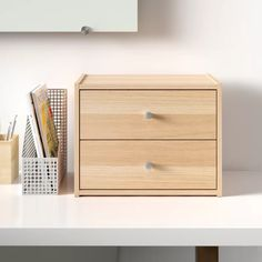 Do It Yourself Organization, Small Space Organization, Home Office Organization, Desktop Organization, Paper Organization, Office Storage Ideas, Desk Ideas, Office Ideas, 3 Drawer Storage