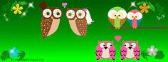★ мuฑ∂ø ∂α Cђєℓ ★: Capas para Facebook: Ursos, Corujas e outras