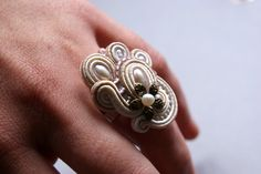 Soutache Ring. $50.00, via Etsy.