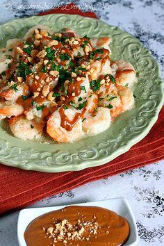 Shrimp Satay with Peanut Sauce