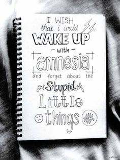 Amnesia by 5 Seconds of Summer Lyric Art Motivacional Quotes, Doodle Quotes, Qoutes, Lyric Drawings, Drawing Quotes, 5sos Drawing, Art Drawings, Love Letras, 5sos Songs