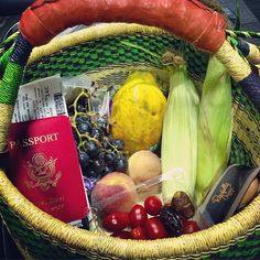 """""""Loving my travel fruit basket! No excuses for staying raw while traveling ✈"""" From rawvana's instagram."""