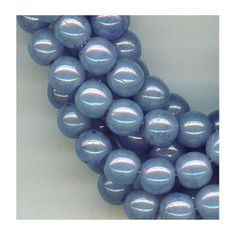 Periwinkle Blue glass beads. Shiny.