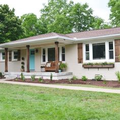 best exterior color 60s ranch house - Google Search