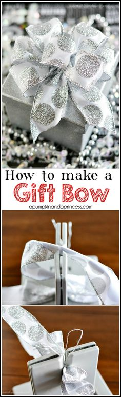 How to make a gift bow with a Bowdabra - A Pumpkin And A Princess
