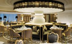 Lotte Hotel, Moscow - design by Blue Plate (Wilson & Associates) - that light feature by Preciosa