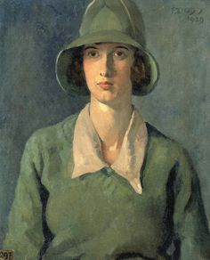 Portrait of the artist Tirzah Garwood by Phyllis Dodd 1929. Garwood later married her fellow artist Eric Ravilious