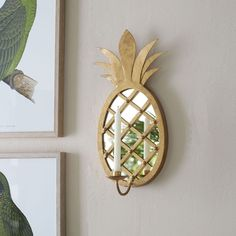 Piña Colada Mirrored Sconce with Taper Holder