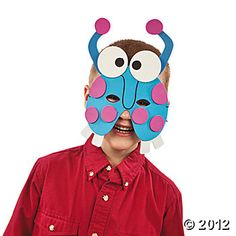 Monster Mask Craft Kit, Hats & Masks, Crafts for Kids, Craft & Hobby Supplies - Oriental Trading $7.25 for 12 Monster Mask, Monster Party, Hobby Supplies, Art Camp, Carnival Masks, Oriental Trading, Summer Art, Craft Kits, How To Raise Money