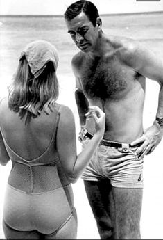 Behind the scenes with Sean Connery and Diane Cilento on location in The Bahamas during filming for Thunderball