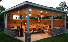 Elegant Outdoor Living Area. Outdoor Living Area Covered Patio ...