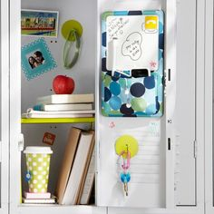 Since the school year is drawing near, I thought Id help someone find the perfect way to decorate their locker.. Pbteen.com has everything you see here, but honestly if you want to glam your locker a lil cheaper.. Lockerlookz.com is what you need lol
