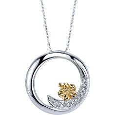 18 Disney Yellow 925 Silver 1/20 ctw Diamond Lilo Stitch Ohana Family... ($110) ❤ liked on Polyvore featuring jewelry, necklaces, silver jewellery, yellow pendant necklace, silver jewelry, silver diamond necklace and diamond pendant