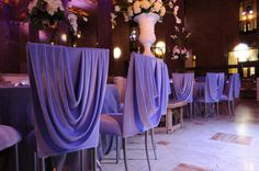 Make your wedding a fashionable affair with these beautifully draped Chameleon Chairs ~ exclusively available at #EventuresInc