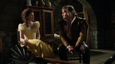 4.22- I like that Rumple's outfit has the golden hue as well, giving the impression of light, and also goes with Belle's popular color