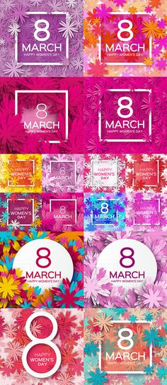 Блог Колибри: Womens Day 8 March holiday background with paper f...