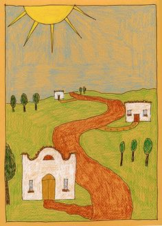 Art Projects for Kids: lesson on perspective (could use with our Grandma Moses study)