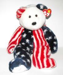 "Ty - Beanie Buddy Bear ""Spangle"" - Free Shipping"