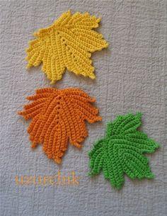 crochet leaf motif