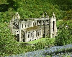 Tintern Abbey, Wales, is a Cistercian abbey standing in picturesque ruins on the southeastern border of Wales. Tintern was the first Cistercian monastery founded in Wales and only the second to be founded in all of Britain. Abandoned Churches, Old Churches, Abandoned Places, The Places Youll Go, Places To See, Places Ive Been, Castle Ruins, Place Of Worship, Cardiff