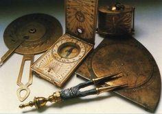 Vintage Navigation Tool ,astrolab , compass , boussole
