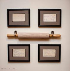 I love this so much! Family recipes and rolling pin.