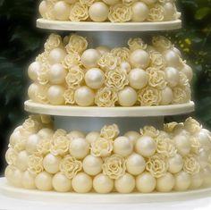 Rose Nuvoue Five Tier Wedding Cake