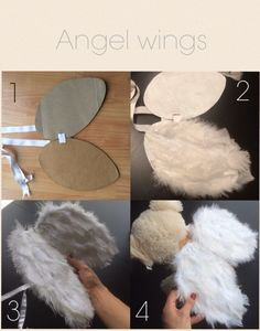 Angel wings for babies or toddlers. Little Cupid costume for San Valentin day.