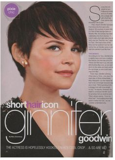 Short hair tips from Anh Co Tran...not that I'll ever be daring enough to go this short, but I love Ginnifer Goodwin's pixie cut!