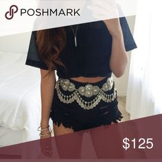 FREE PEOPLE Coin / Chain Boho Belt New Free People Accessories Belts