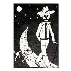 Juan walking his dog #sugarskull #dayofthedead #skulls #skeleton #gifts #homeware #homedecor