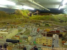 model railroad city scenery | Isaac, Jamar, and John at the helm of the Railroad Club.