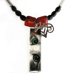 $28 Cat Art Necklace