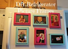 Diy Refrigerator Picture Frames | Momma On Wheels